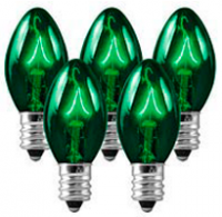 C7 Bulbs Green