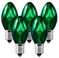 C7 Bulbs Green