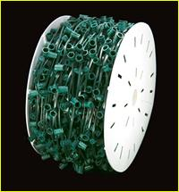 1000' C7 Chord Spool (Green Wire)