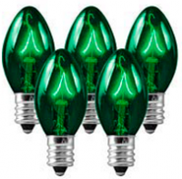 C9 Bulbs Green
