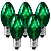 C9 Bulbs Green